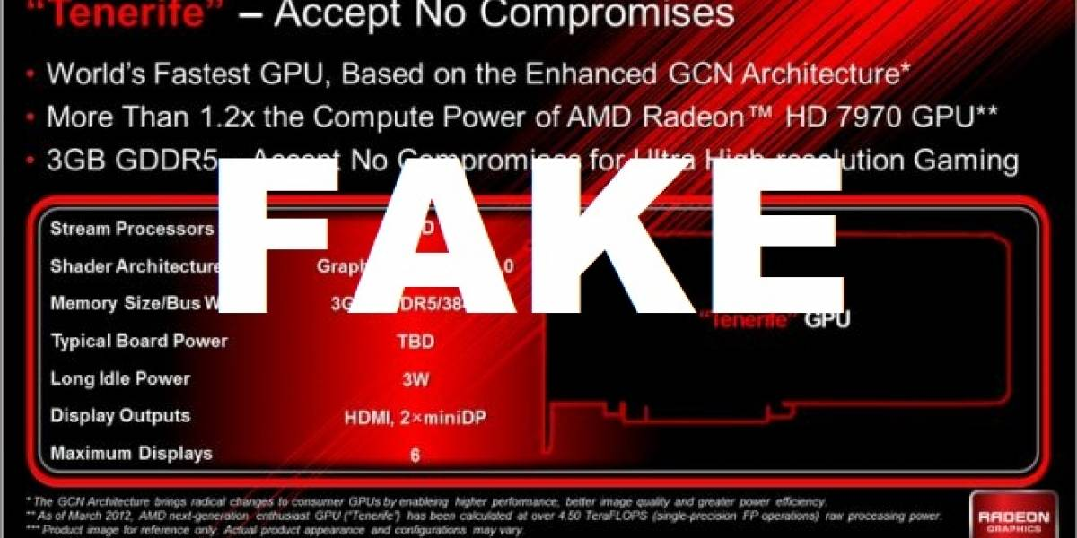 AMD: Tenerife es una falsificación muy bien hecha