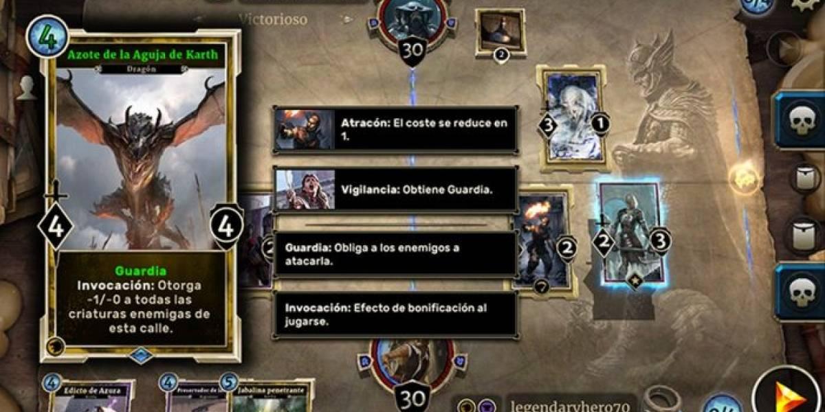 The Elder Scrolls: Legends llega a dispositivos móviles