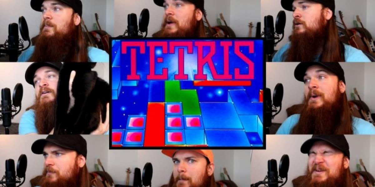 Imperdible: Un hombre canta el tema de Tetris a capella