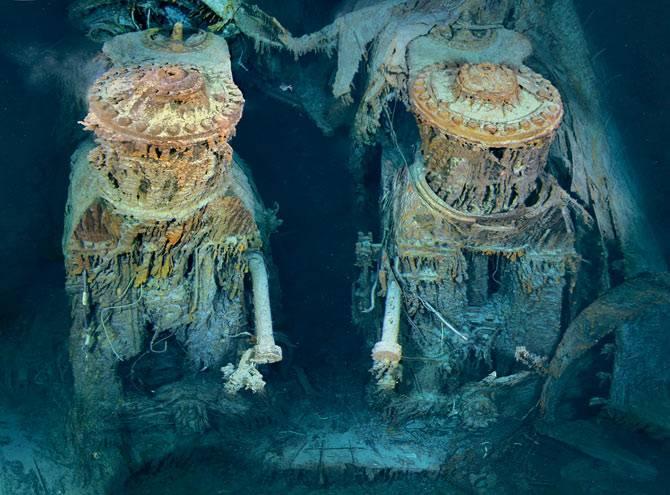 Expertos muestran imágenes donde se puede ver como el Titanic ha sufrido daños por microbios