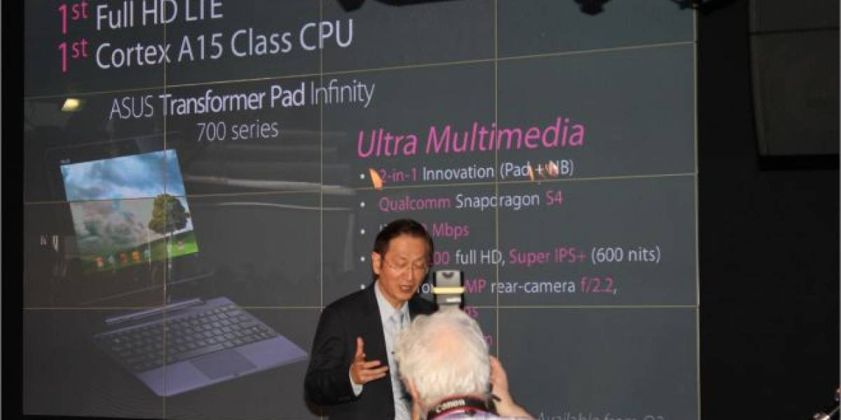 Asus anuncia sus tablets Transformer Pad 300 e Infinity 700
