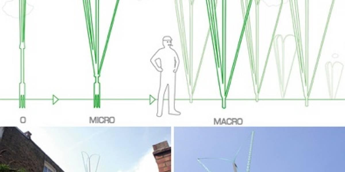 Turbina de viento personal que produce 1.2kW de electricidad