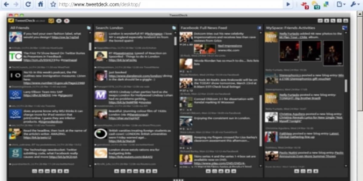 TweetDeck trabaja en una versión web de su cliente para dispositivos móviles
