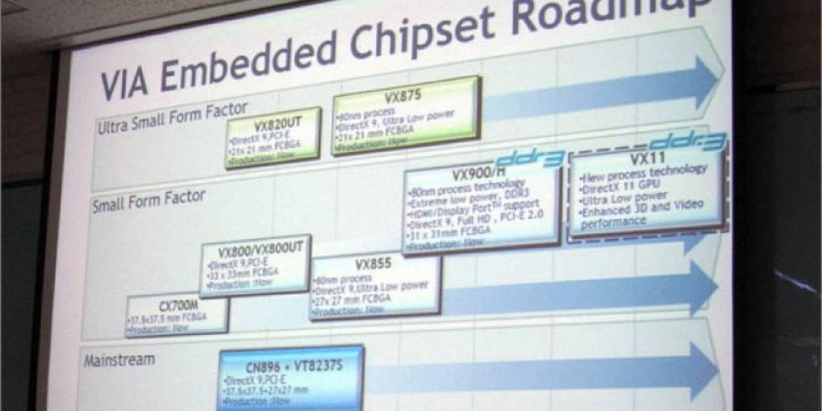 VIA anuncia sus nuevos chipsets y GPUs DirectX 11