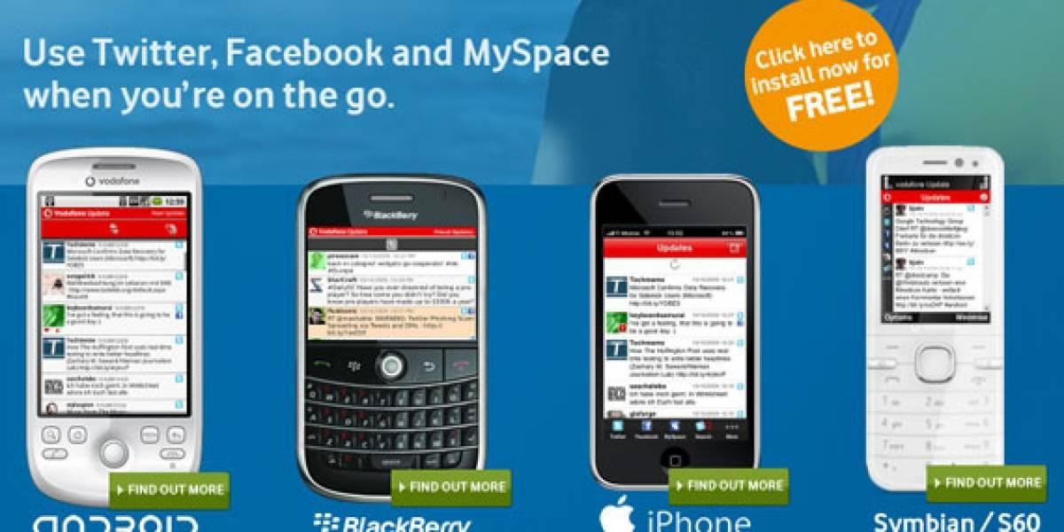 Vodafone Update: Una aplicación gratuita para múltiples redes sociales