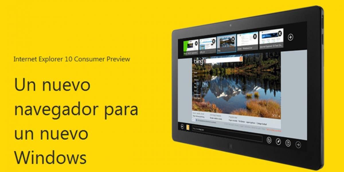 Internet Explorer 10 de Windows 8 Consumer Preview a prueba