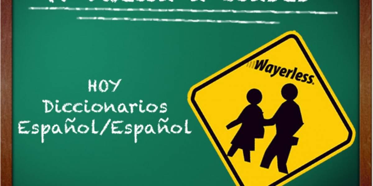 W Vuelta a Clases: Diccionarios Español/Español