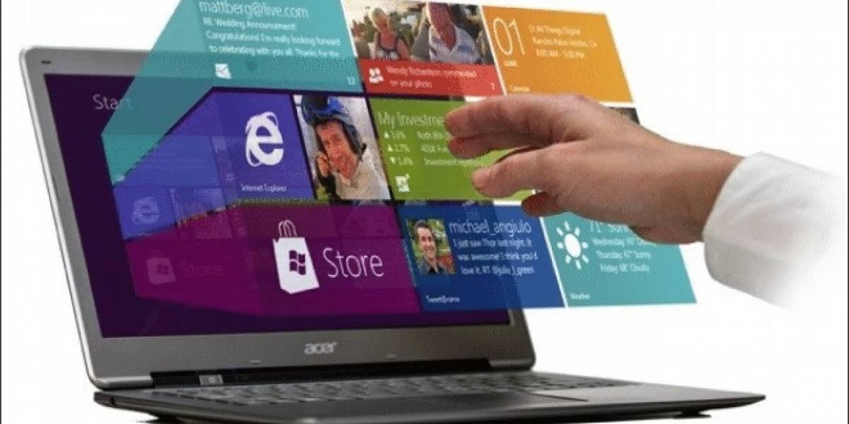 Las ventas de notebooks con pantallas táctiles podrían aumentar un 50% hacia fines del 2013