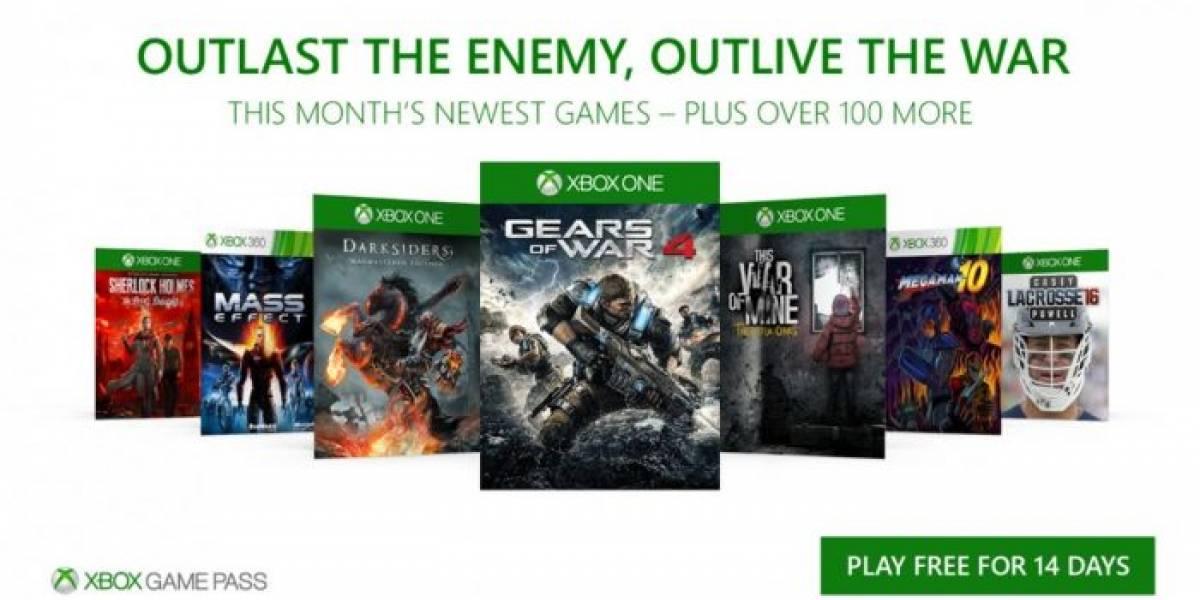 Xbox Game Pass agregará Gears of War 4, Darksiders, Mass Effect y más en diciembre
