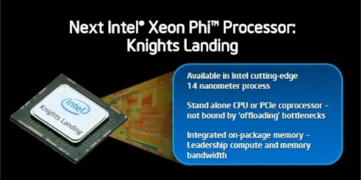 "Más detalles del cGPU Intel Xeon Phi ""Knights Landing"" socket LGA"