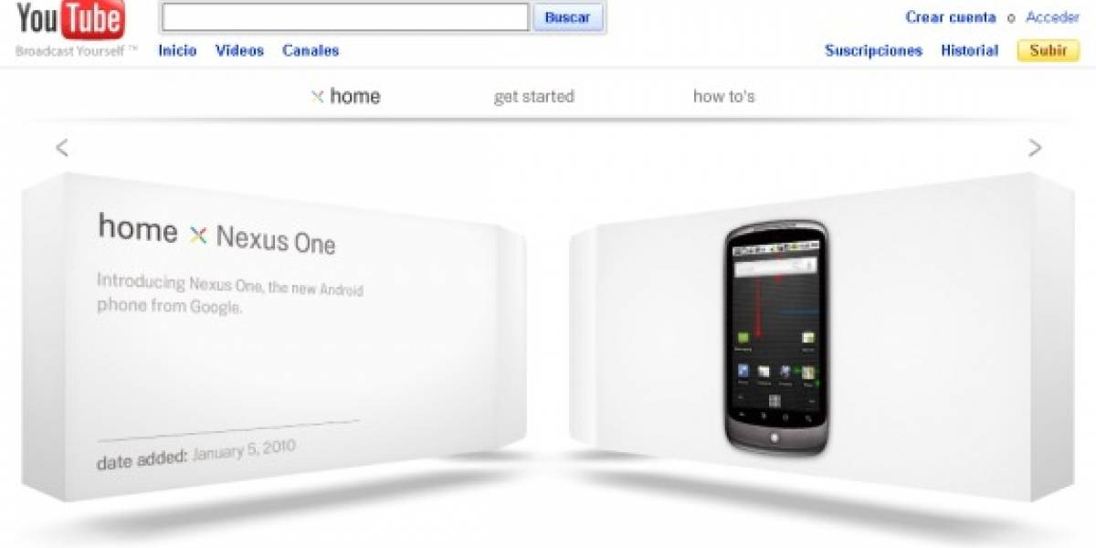 Videos oficiales del Nexus One