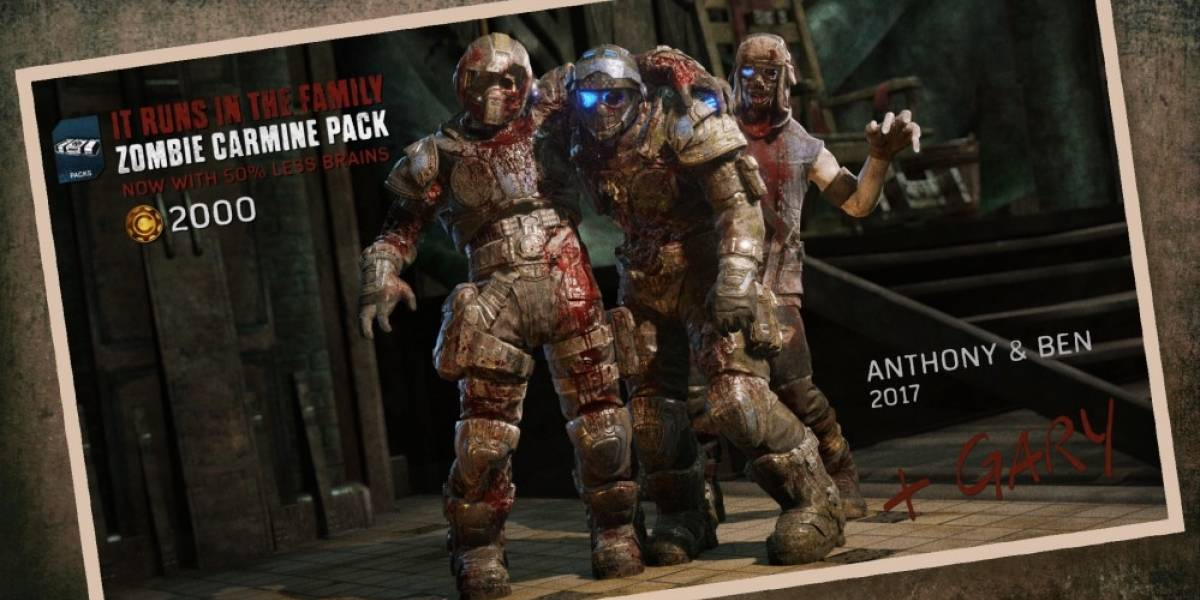 Los hermanos Carmine regresan como zombis a Gears of War 4