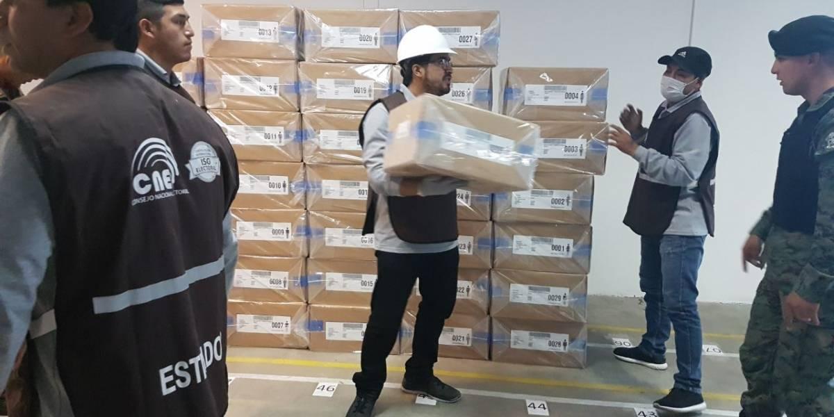 Material electoral en Azuay se distribuye desde el sábado