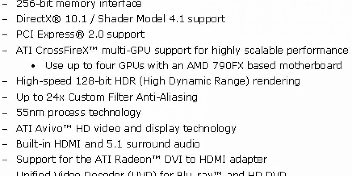 Specs y fotos Radeon HD 3800