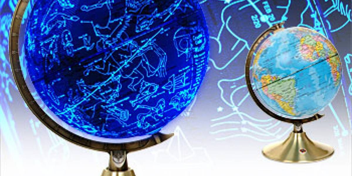 Glowing Globe: Globo terráqueo y mapa de constelaciones