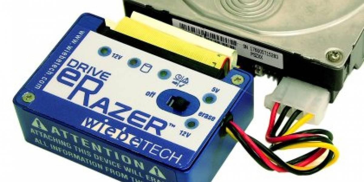 Drive Erazer: Borra tu disco para que no se puede recuperar información