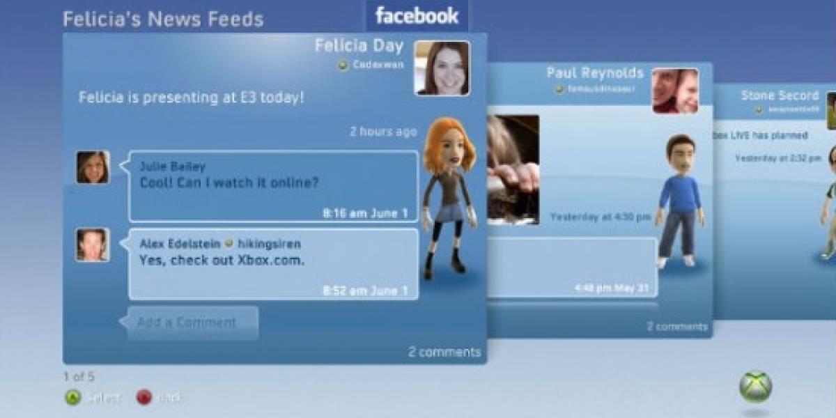 La próxima actualización del dashboard del Xbox 360 incluirá betas de Facebook, Twitter y Last.fm
