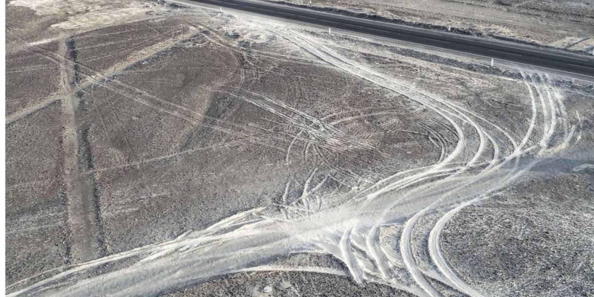 Caminhão danifica parte das milenares linhas de Nazca, no Peru