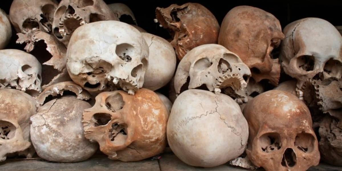 Arqueólogos descubren gran altar de cráneos sepultado bajo la ciudad de México