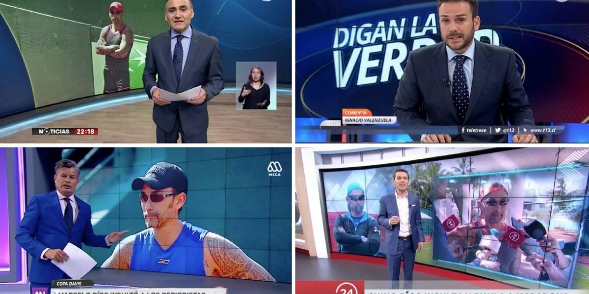 """""""La clase, la educación, la decencia, no se venden en una farmacia"""": Así respondieron los periodistas deportivos al """"Chino"""" Ríos en los noticieros centrales"""