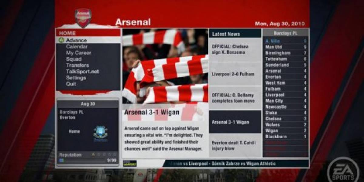 EA elimina el Modo Manager para FIFA 11