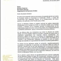 carta fiscal thelma Aldana a António Guterres