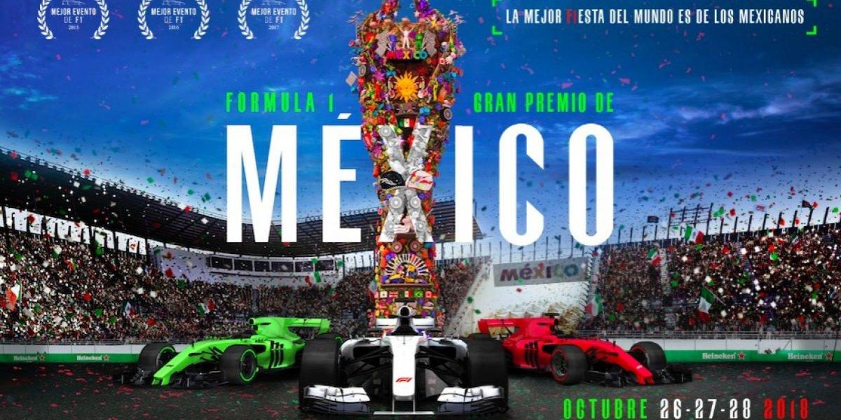 La Fórmula 1 da a conocer el cartel oficial del GP México 2018