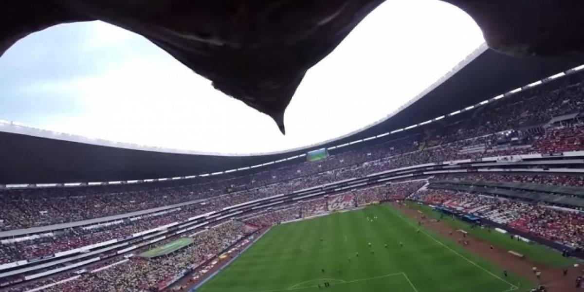 Vuelo de águila con GoPro en el Estadio Azteca