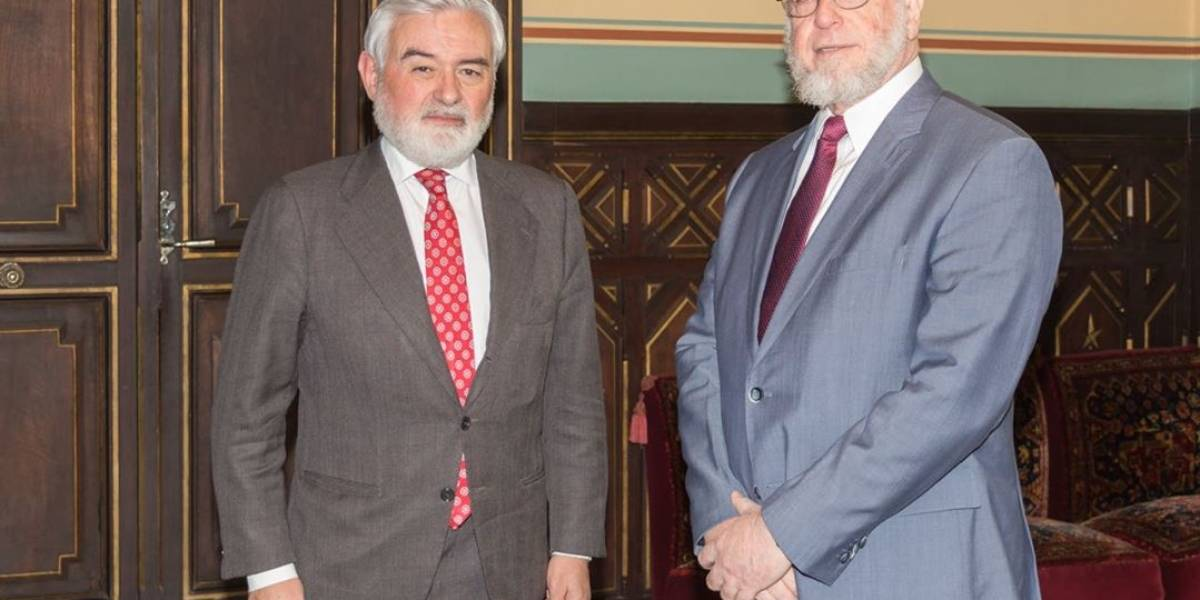 Ministro de Cultura sostiene una reunión con el director de la RAE