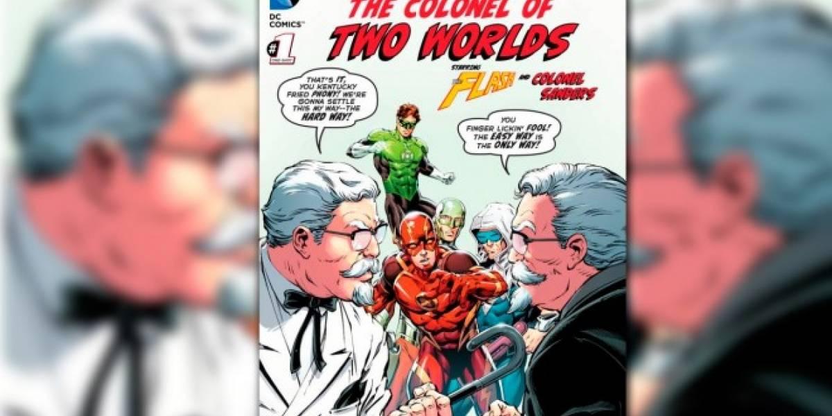 DC se une a KFC para lanzar cómic con Flash y el Coronel Sanders