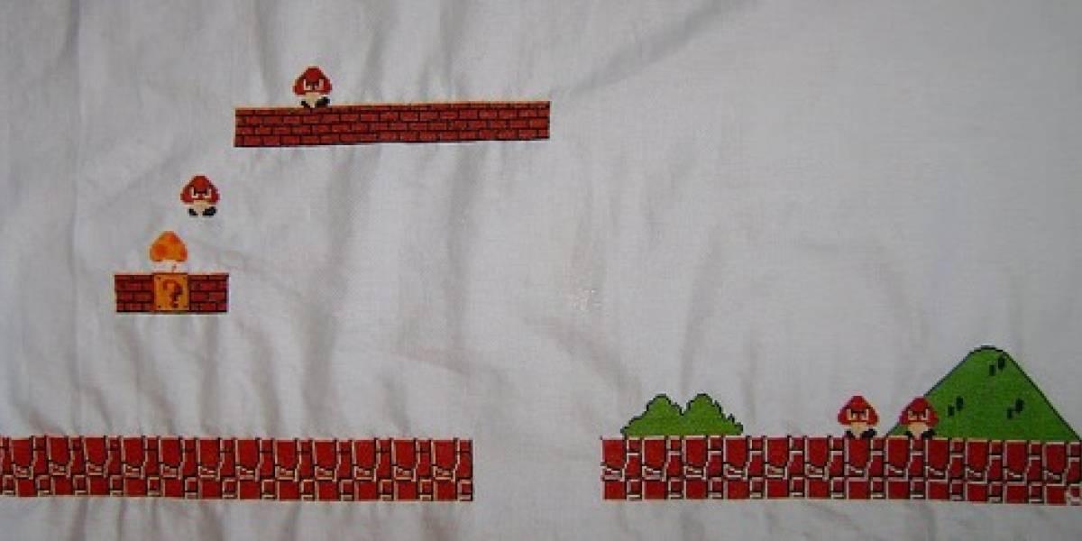 Level 1-1 de Super Mario Bros. en tapicería