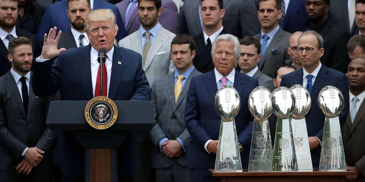 Trump se negó a la tradicional entrevista previa al Super Bowl