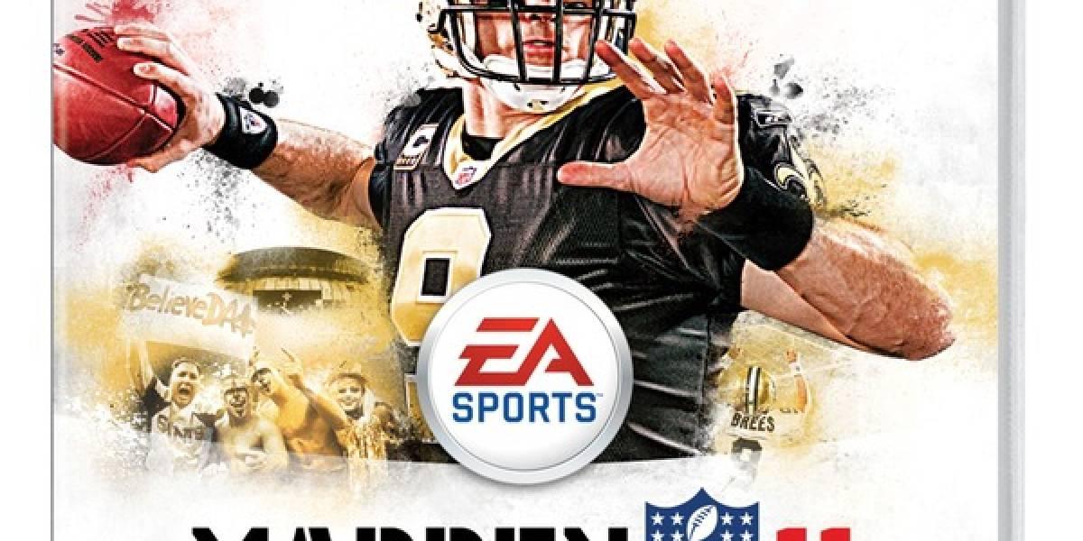 Drew Brees será portada en Madden NFL 11