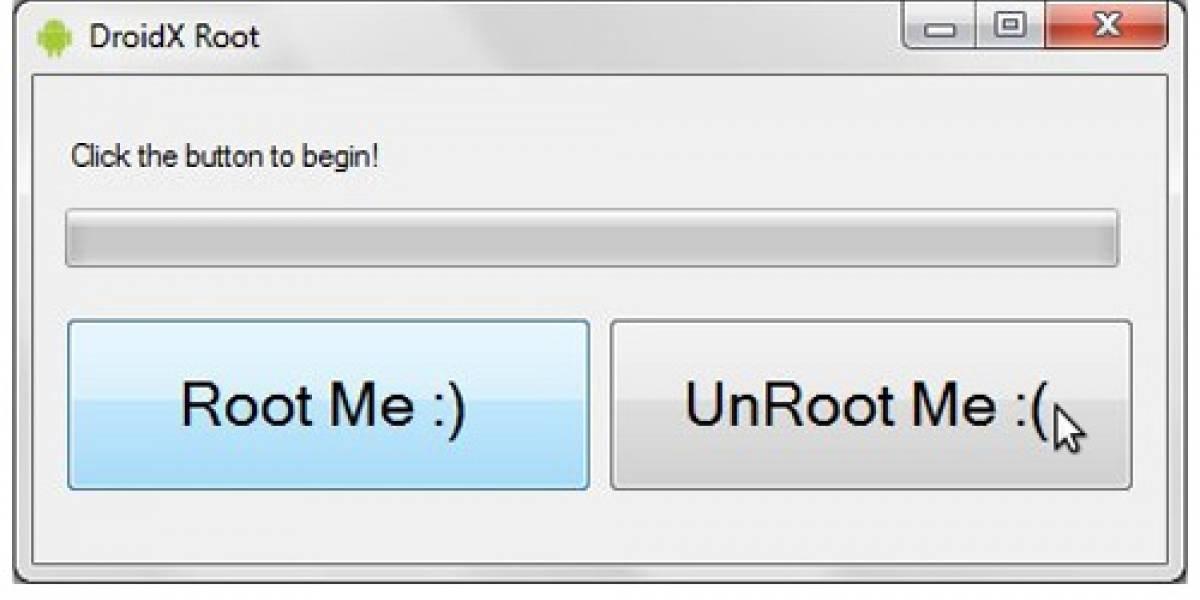 Droid X ahora se puede rootear con un solo click