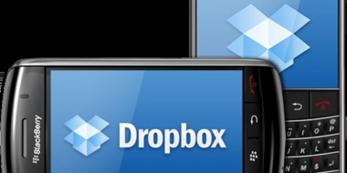 Llega versión beta de Dropbox para BlackBerry
