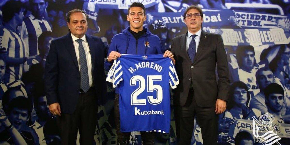 Carlos Vela me ayudó a decidir a la Real Sociedad: Moreno