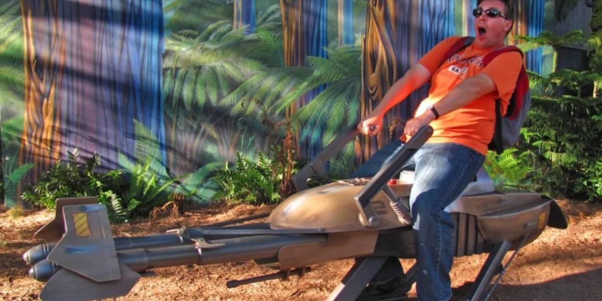 Este dron es una réplica exacta del Speeder Bike de Star Wars