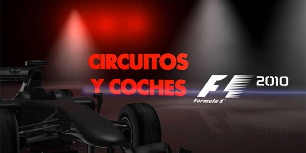 Los autos y pistas de F1 2010