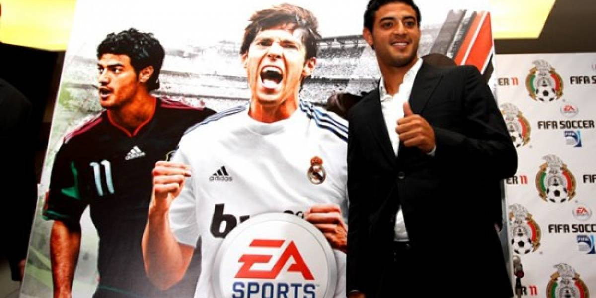 Carlos Vela dice presente en la portada de FIFA 11
