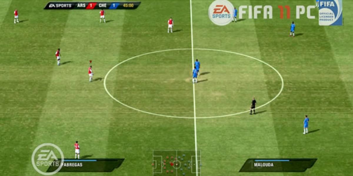 Asi se juega FIFA 11 en PC
