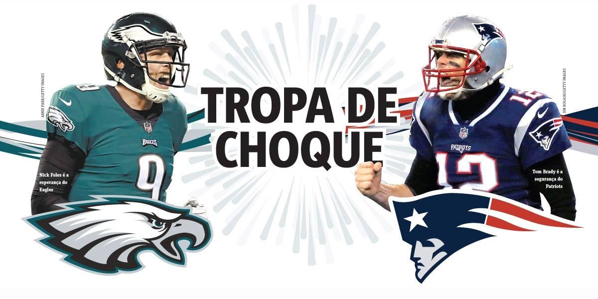 Super Bowl: Eagles desafiam a hegemonia dos Patriots, de Tom Brady
