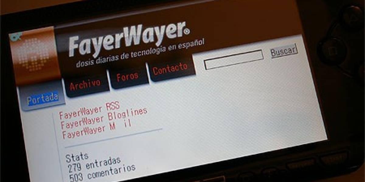 PSP en FayerWayer o FayerWayer en PSP