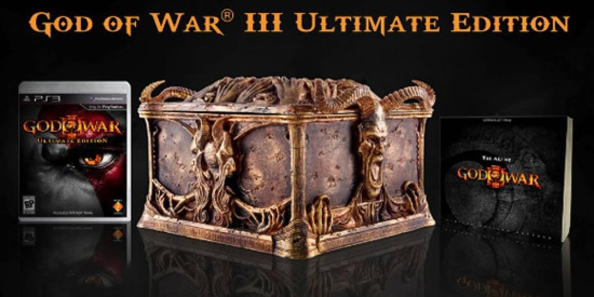 Detalles sobre la edición para coleccionistas de God of War III