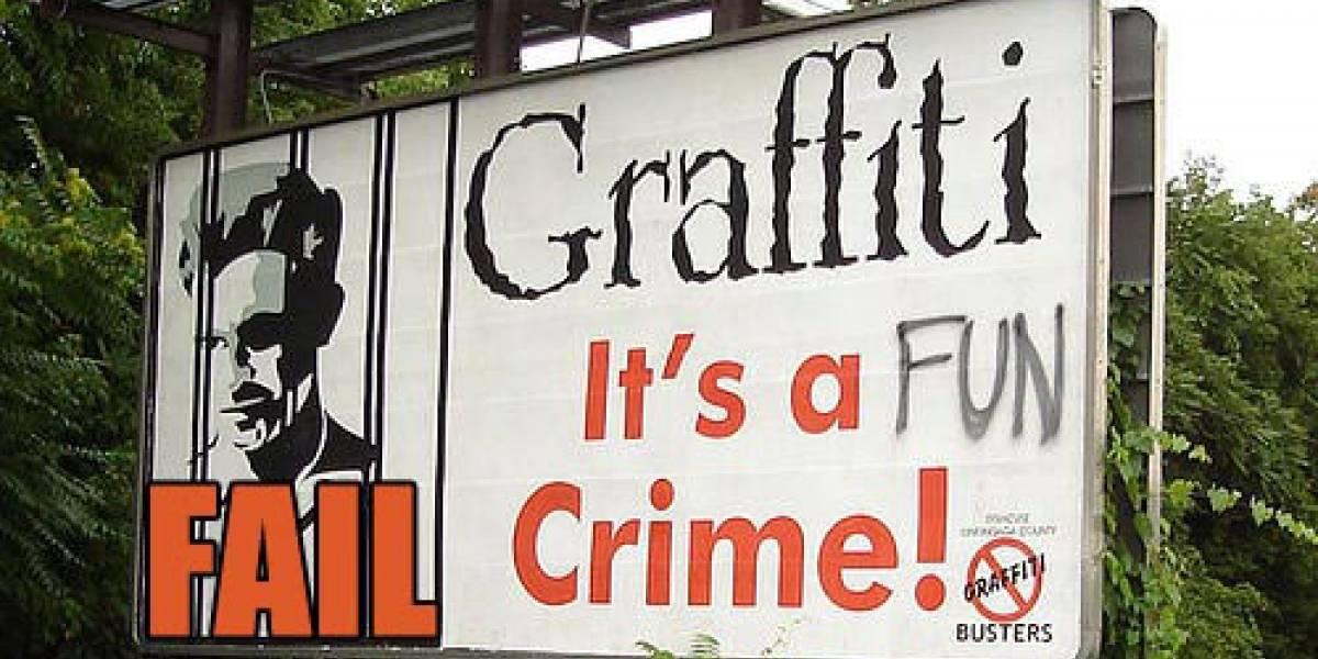Graffitea Crackdown 2 y aparece en los créditos
