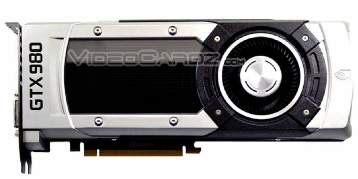 Tarjeta gráfica GeForce GTX 980 de referencia posa para la cámara