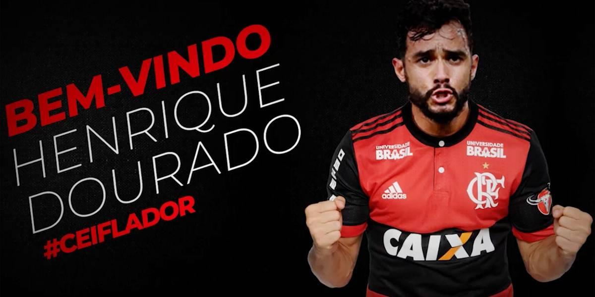 Henrique Dourado é anunciado como novo reforço do Flamengo