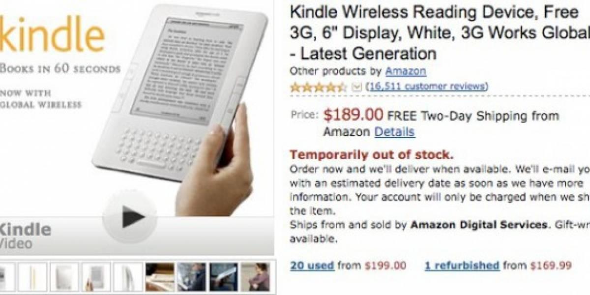 Kindle de Amazon agotado y crecen rumores de nuevo modelo