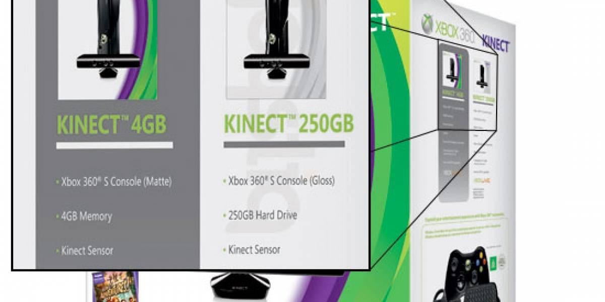 Microsoft confirma paquete de Xbox 360 250GB con Kinect