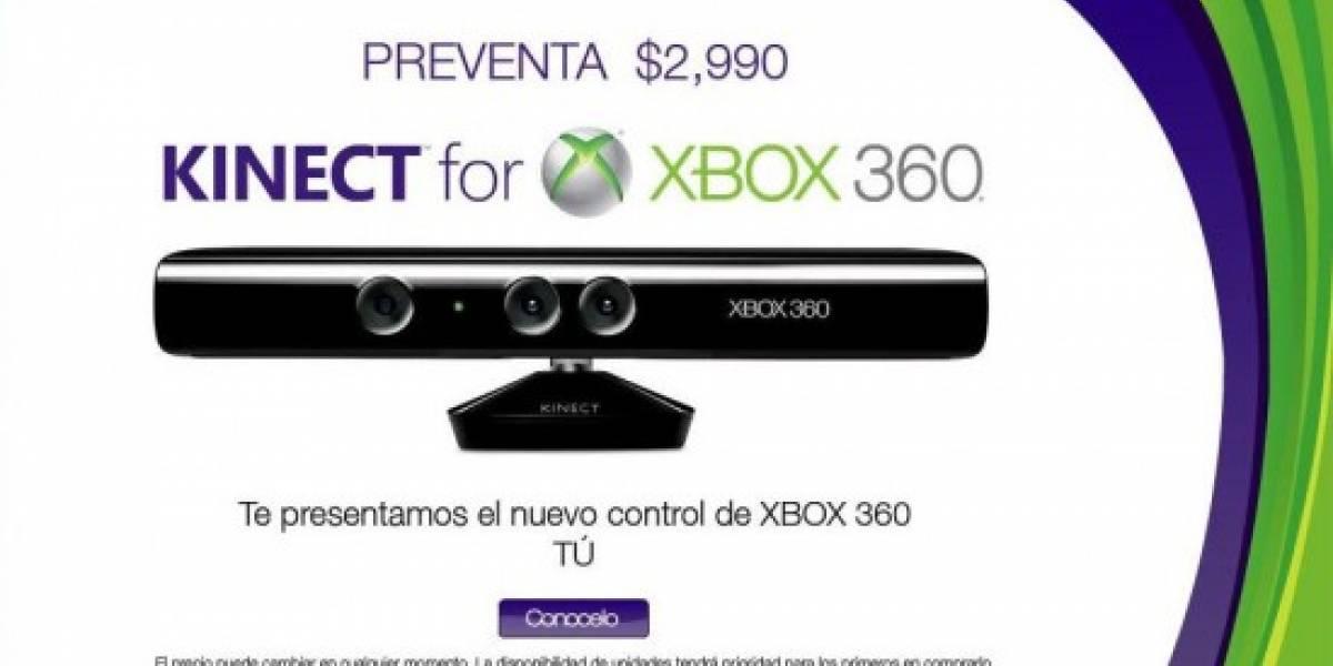 Futurología: GamePlanet le pone precio y fecha a Kinect en México