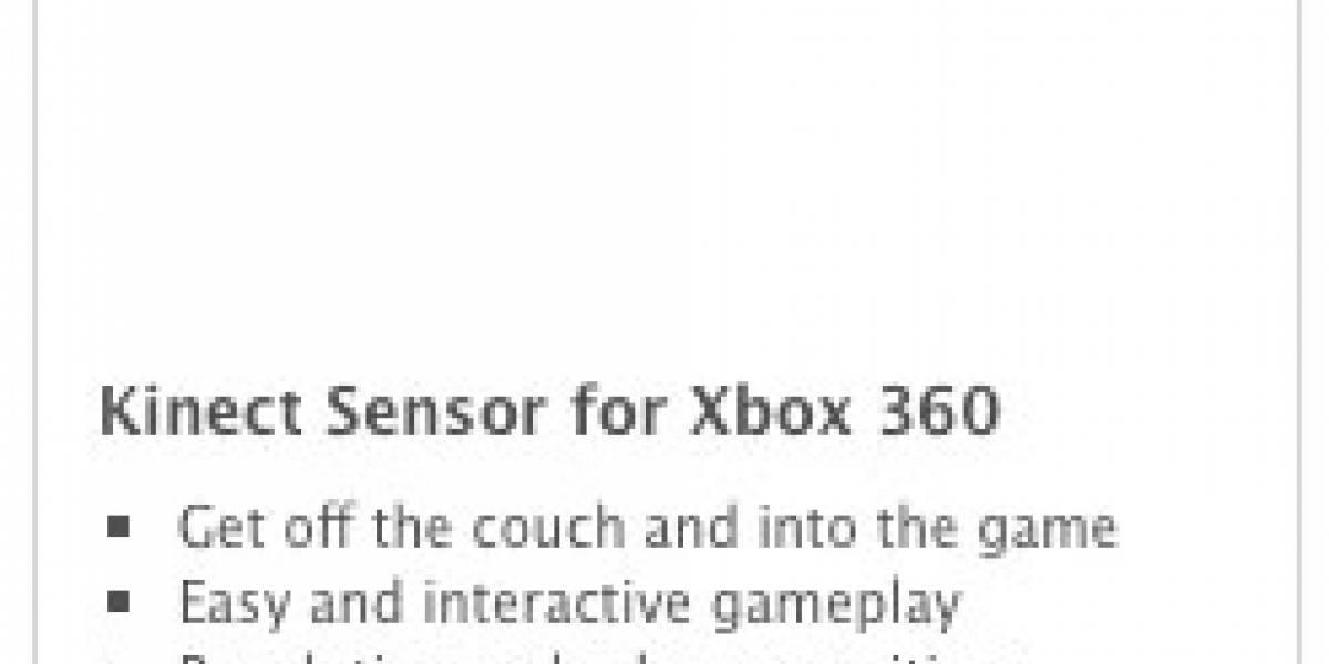 Casi confirmado el precio de Kinect
